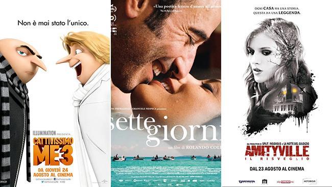 I poster dei film Cattivissimo Me 3, Sette Giorni, Amityville: Il Risveglio