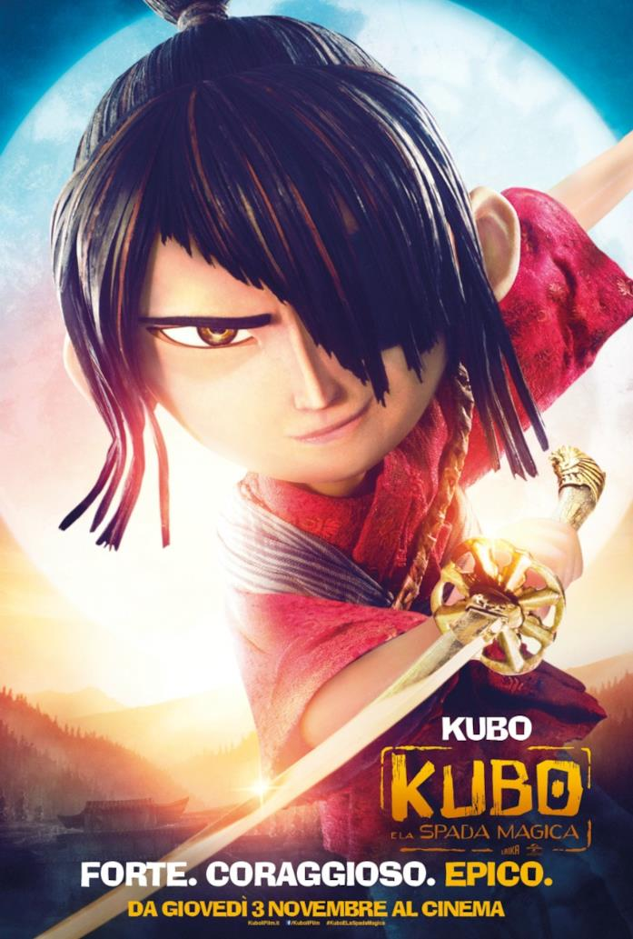 Kubo e la Spada Magica il Poster italiano del film