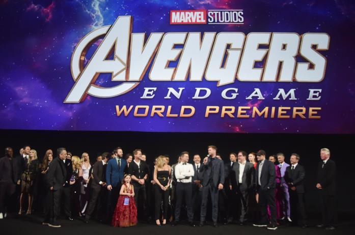 I registi e il cast di Avengers: Endgame alla world première del film a Los Angeles
