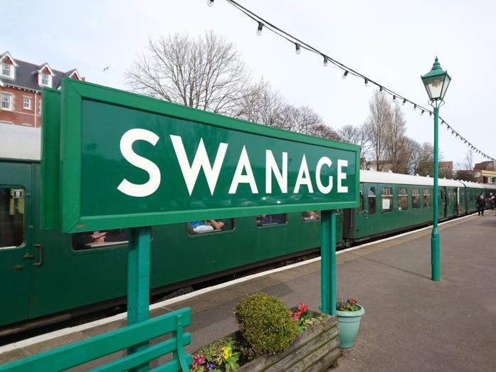 La stazione ferroviaria di Swanage, nel Regno Unito