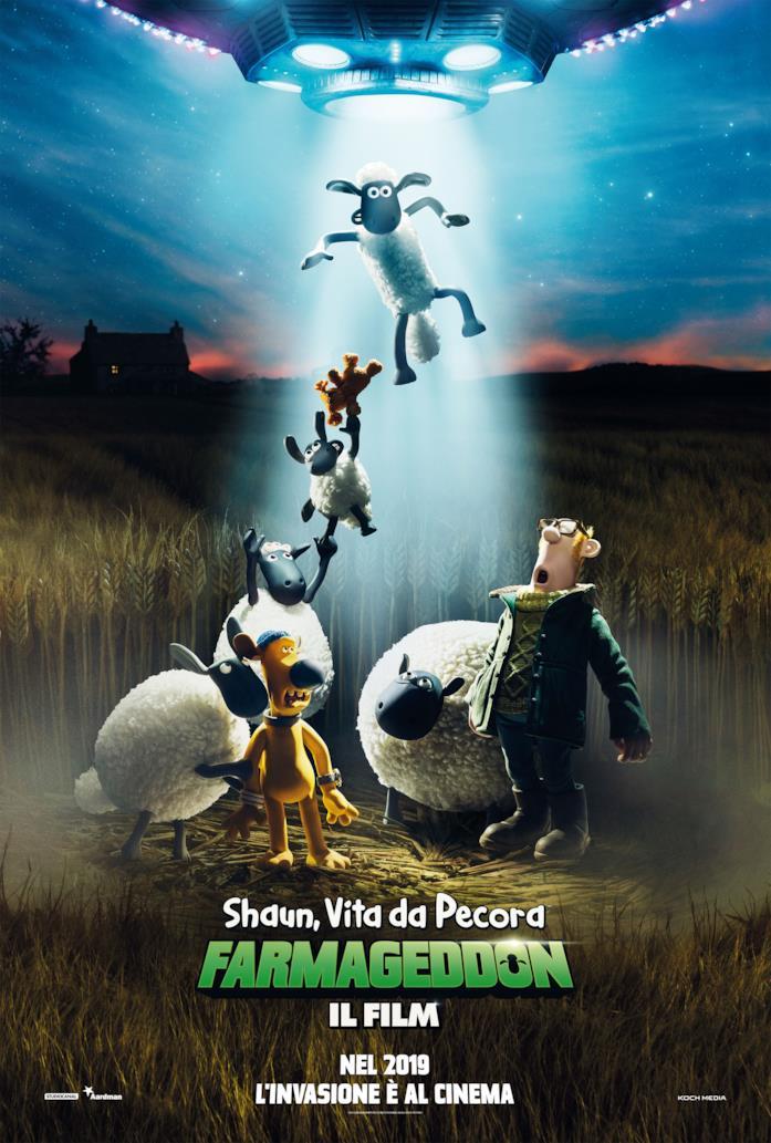 Il teaser poster di Shaun, vita da pecora - Farmageddon il film