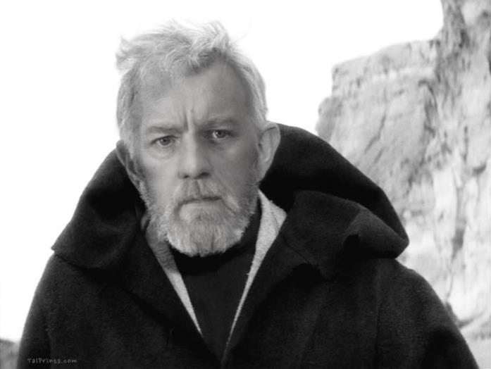 L'attore Alec Guinness si mescola a Ewan McGregor in questa foto di Obi-Wan