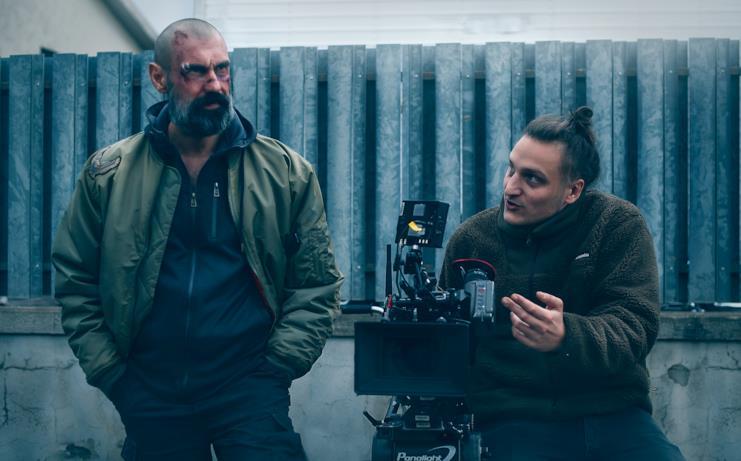 Fabrizio Gifuni con Ludovico Di Martino sul set di La Belva