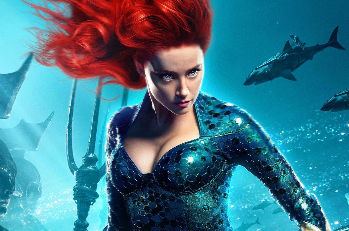 Amber Heard è Mera in un poster di Aquaman