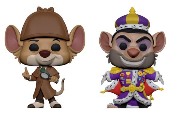 I Funko Pop! di Basil di Baker Street e il Professor Rattigan