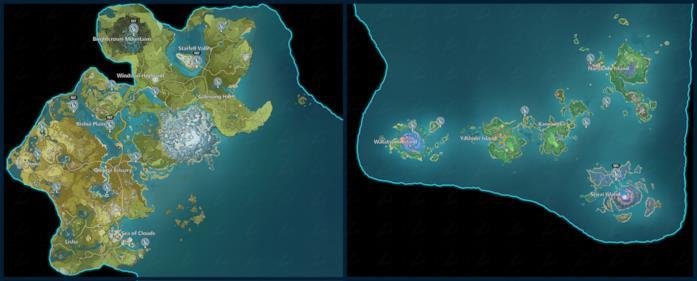 La mappa per pescare tutti i pesci in Genshin Impact