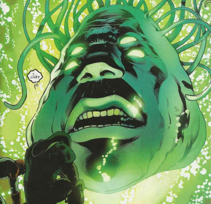 Una rappresentazione della Suprema Intelligenza così come concepita nei fumetti Marvel