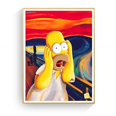 Poster Immagini a Parete Homer Simpson Scream