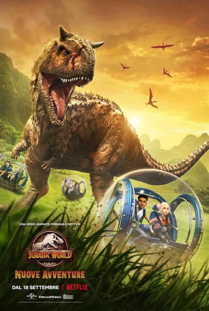 La nuova locandina di Jurassic World: Nuove avventure