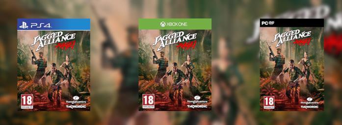Le copertine di Jagged Alliance: Rage! per PS4, Xbox One e PC