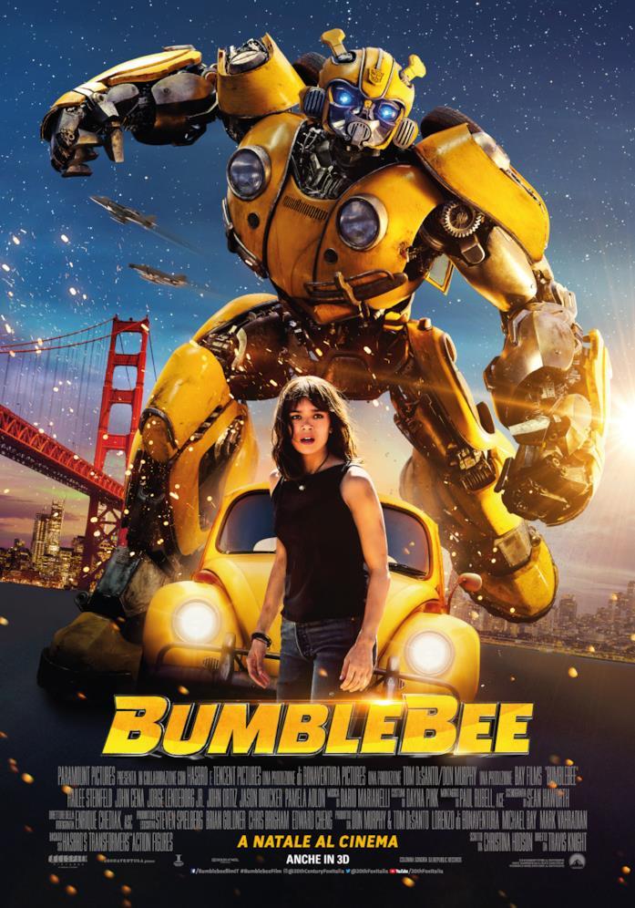Bumblebee e Charlie (Hailee Steinfeld) nel poster italiano del film