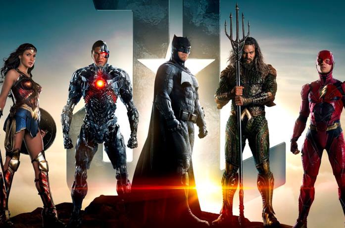 Poster promozionale di Justice League (2017)