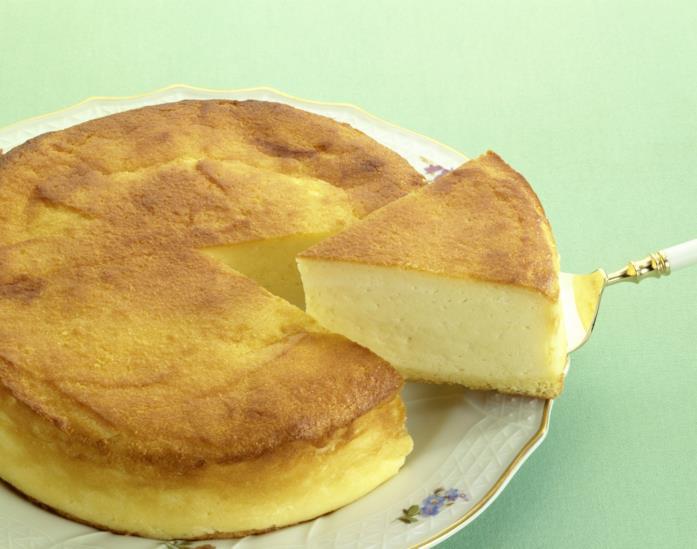 Primo piano di una cheesecake classica