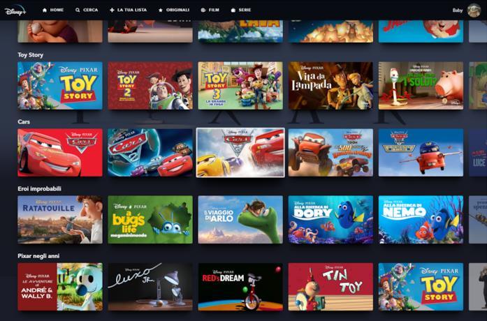 I film Pixar su Disney+ Italia