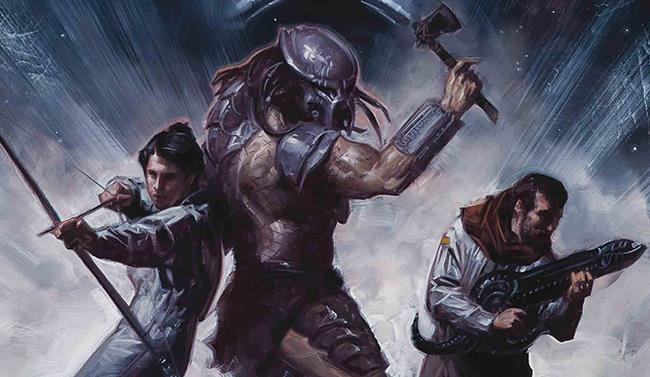 Cover di Prometheus Omega con Galgo, Predator e Angela