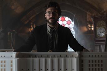 Una scena del Professore ne La Casa di Carta