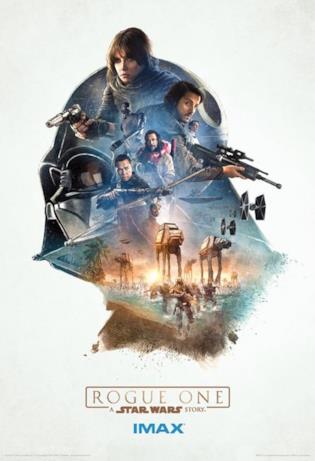 poster IMAX di Rogue One: A Star Wars Story con Darth Vader