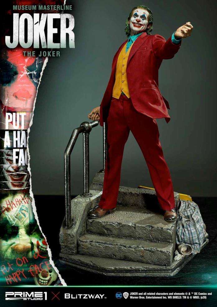 Un'immagine della statua di Joker di Prime 1 Studios e Blitzway