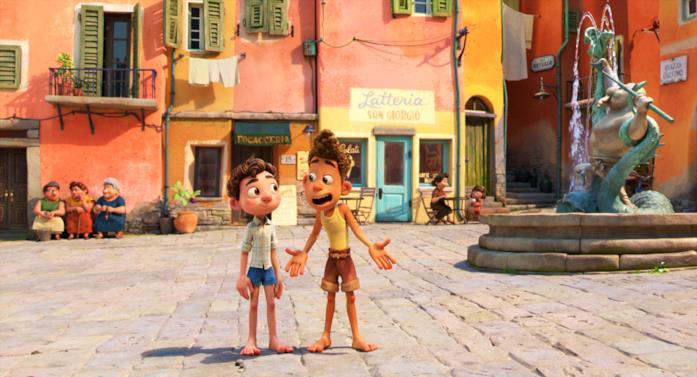 Luca e Alberto in una scena di Luca