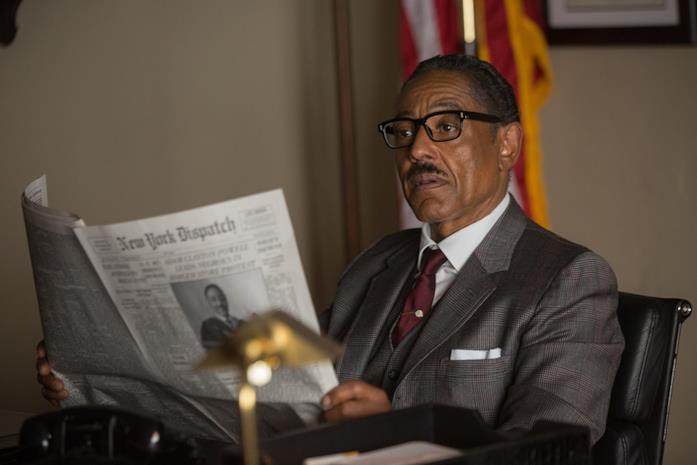 Giancarlo Esposito sul set di Godfather of Harlem