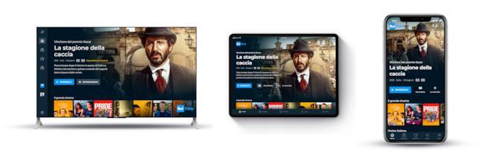 Esempio del nuovo RaiPlay su Smart TV, iPad e iPhone