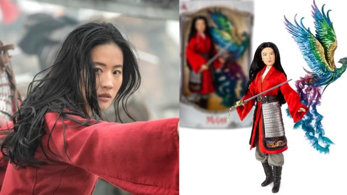 Collage tra Mulan e la bambola Mulan