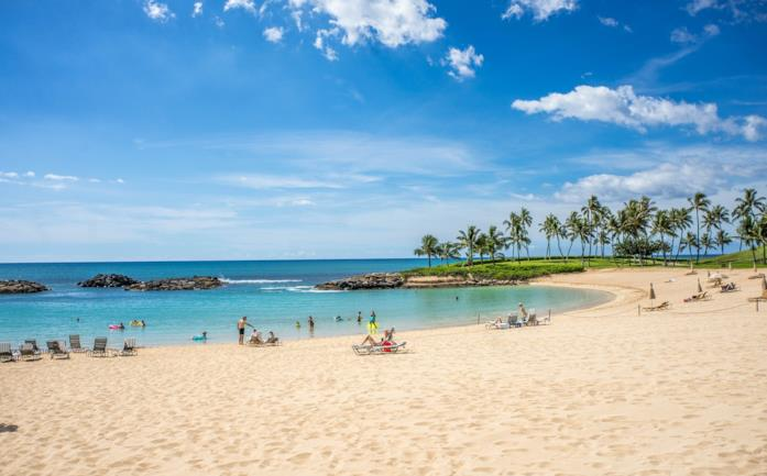 Una spiaggia alle Hawaii