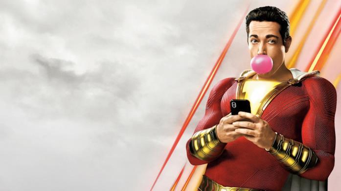 Shazam con una gomma da masticare e il cellulare in mano