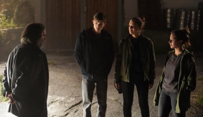 Mauro, Thomas, Anna e Daria in Curon