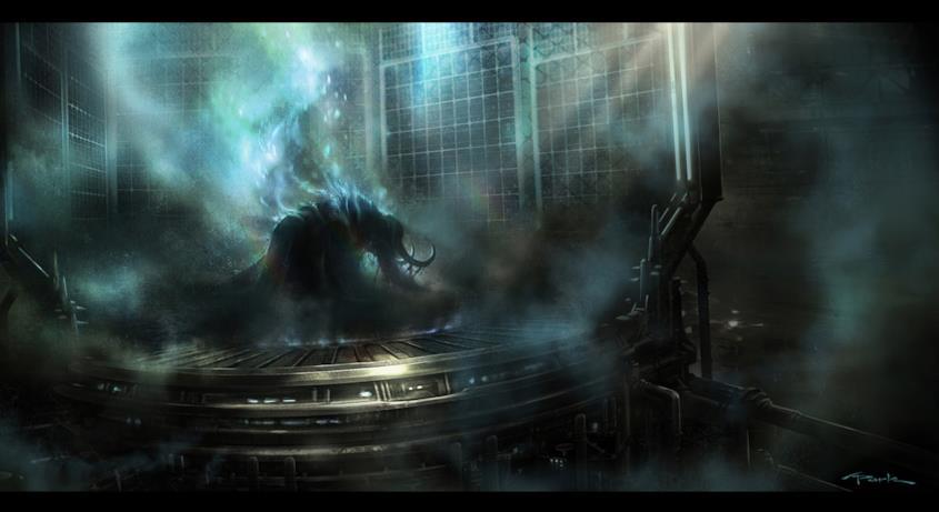 Loki con il casco dalle lunghe corna, visto in ombra