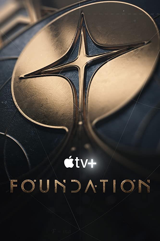 Il logo di Foundation nel poster della serie