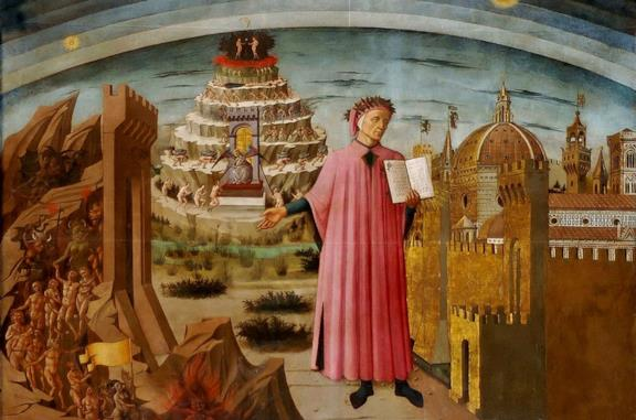 Dante e il suo poema, affresco di Domenico di Michelino