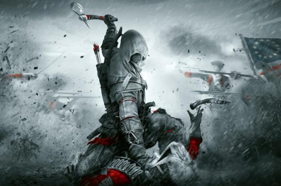 Il protagonista di Assassin's Creed III in azione