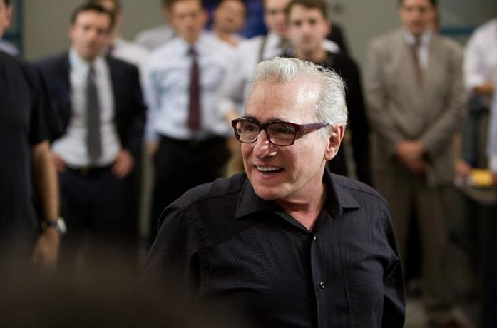 Martin Scorsese sul set del film The Wolf of Wall Street