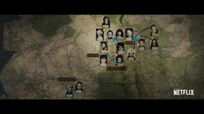 Lo foto delle vittime in una mappa