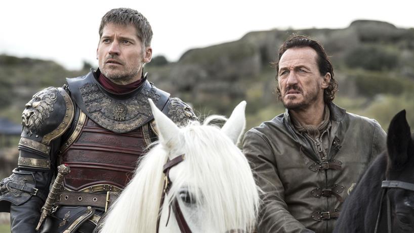 Bronn e Jaime Lannister a cavallo