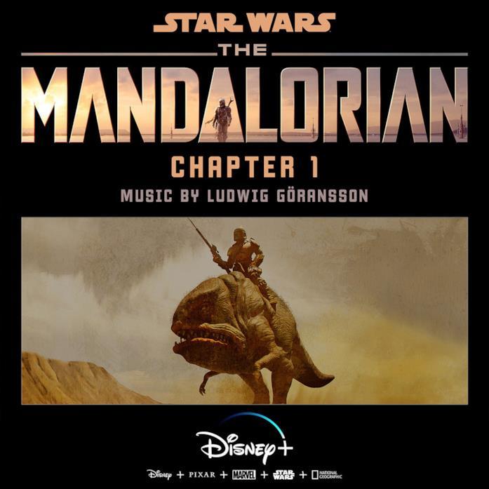 La copertina della colonna sonora della serie TV The Mandalorian