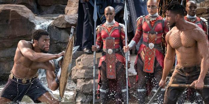 T'Challa e Killmonger si sfidano per il trono del Wakanda
