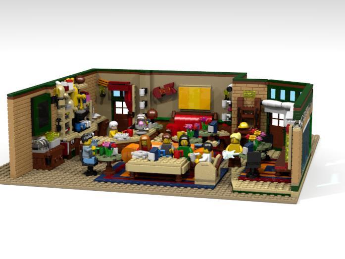 Panoramica sul set Central Perk Coffee di Friends di LEGO