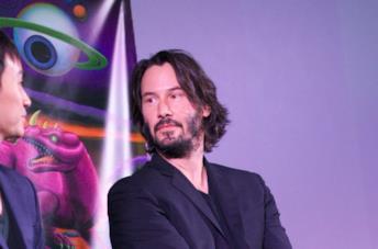 Keanu Reeves durante una conferenza