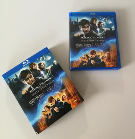 Box e slipcase del cofanetto di Harry Potter con 9 film