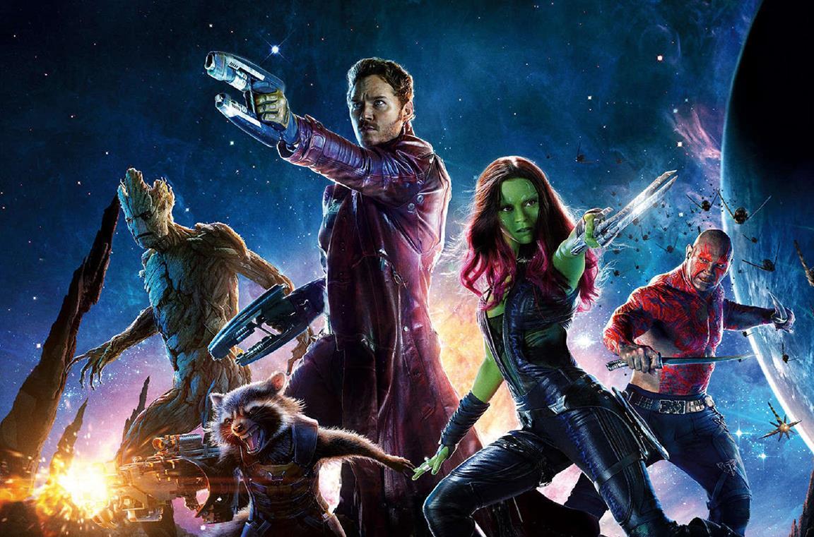 I Guardiani della Galassia in un'immagine promozionale