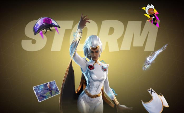 Immagine promozionale del costume di Storm in Fortnite