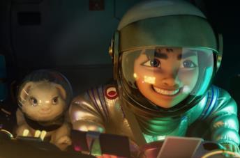 Una scena dal film Over the Moon - Il fantastico mondo di Lunaria
