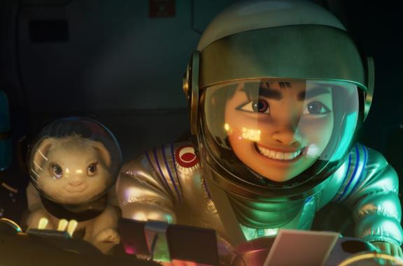 Una scena dal film Over the Moon - Il fantastico mondo di Lunaria