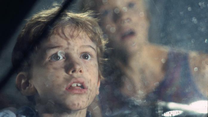 Tim quando vede per la prima volta il T-Rex