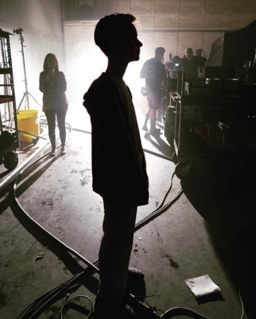 L'attore Jaeden Wesley nel fim IT