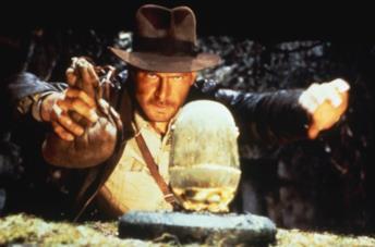 Harrison Ford come Indiana Jones in I predatori dell'arca perduta