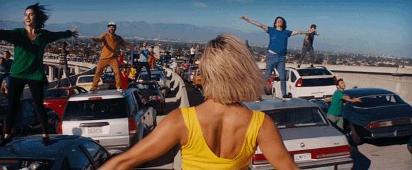 La scena iniziale di La La Land