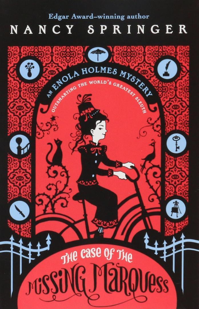 La copertina del primo libro de I misteri di Enola Holmes